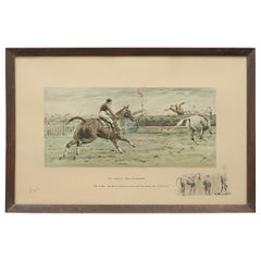 Horse Racing Print, Grand National 'Worst View In Europe' by Snaffles