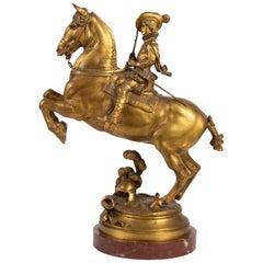 Horse Rider, Signed E. Frémiet