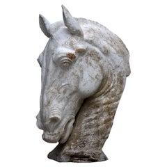 Horse's Head Sculpture