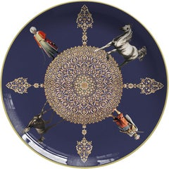 Horses Porcelain Dinner Plate by Vito Nesta for Les-Ottomans