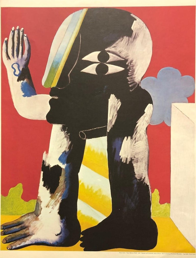 Figure 1967 (Poster)-Printed in Germany. Copyright: Horst Antes - Pink Figurative Print by Horst Antes