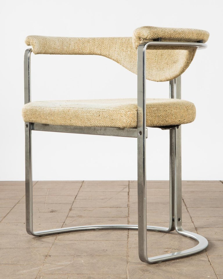 Mid-Century Modern Horst Brüning, 9 Dining Chairs in Flat Chromed Steel, for Kill Int. 1968 For Sale