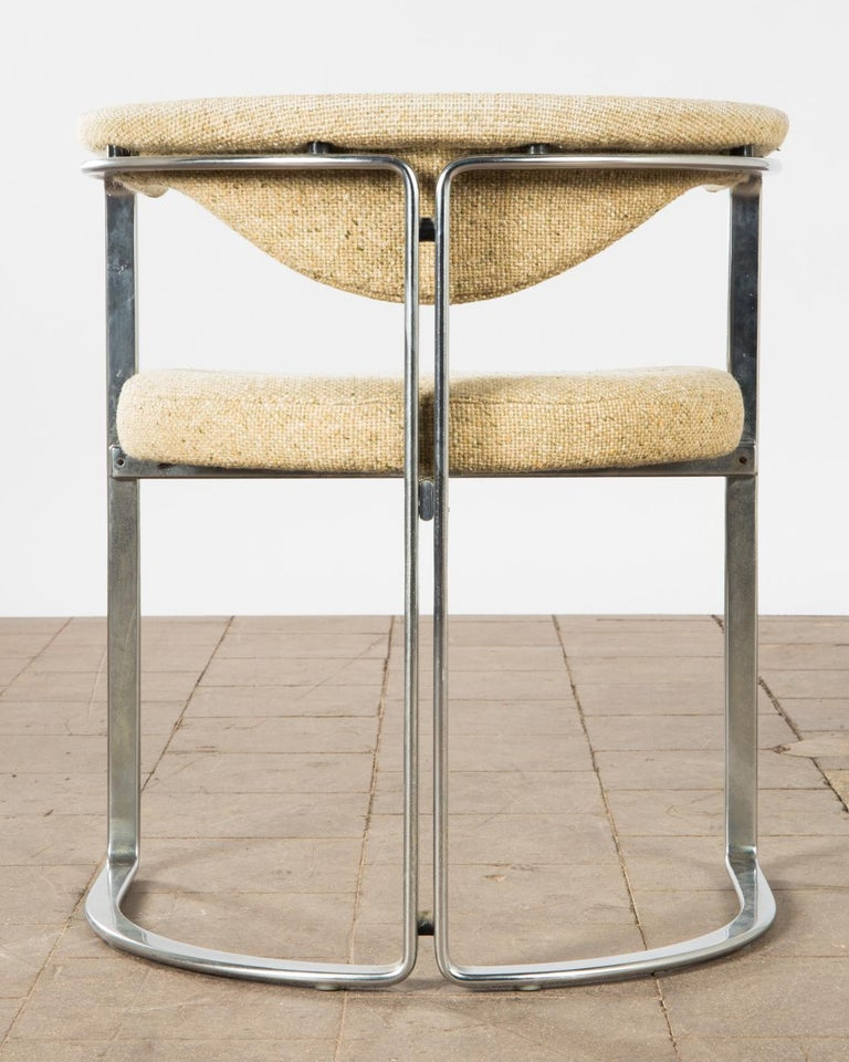 European Horst Brüning, 9 Dining Chairs in Flat Chromed Steel, for Kill Int. 1968 For Sale