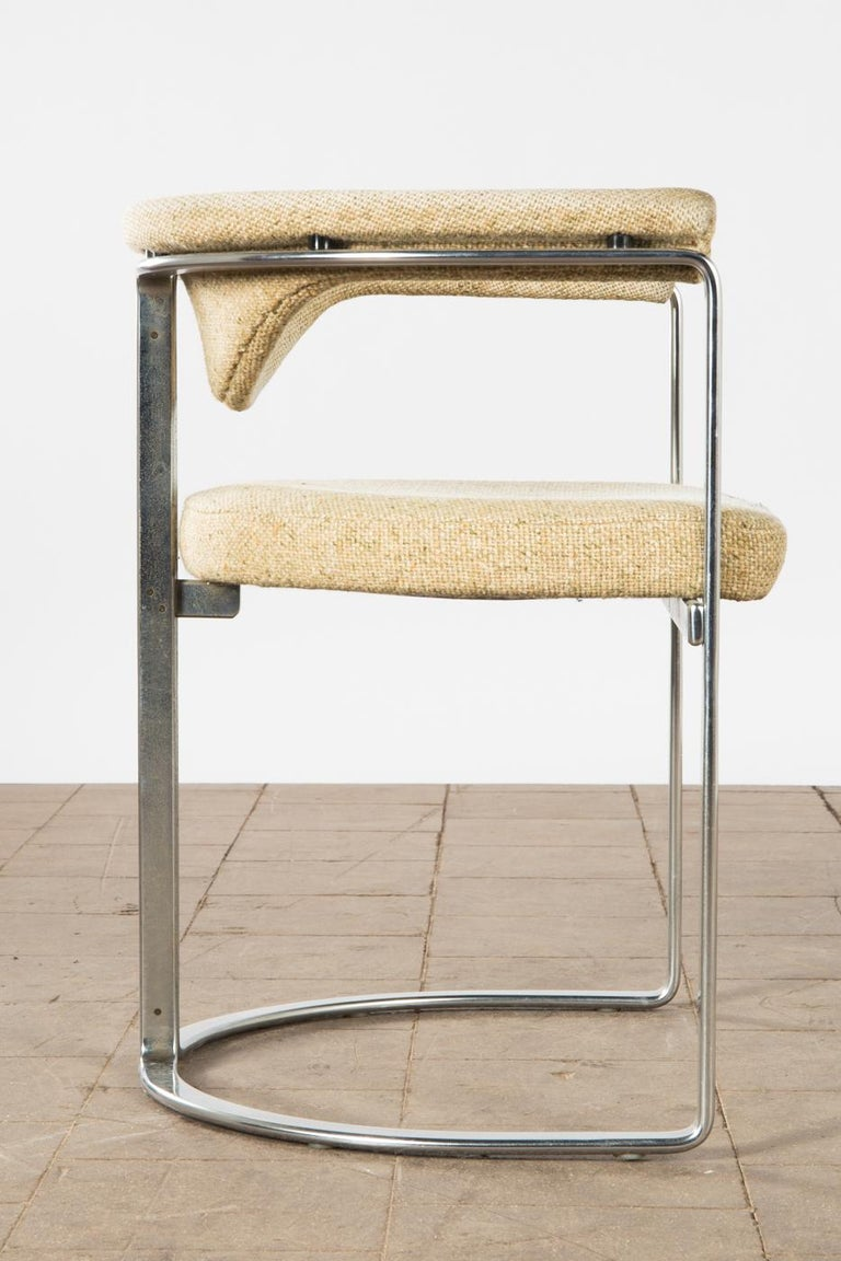 Horst Brüning, 9 Dining Chairs in Flat Chromed Steel, for Kill Int. 1968 In Good Condition For Sale In , DE