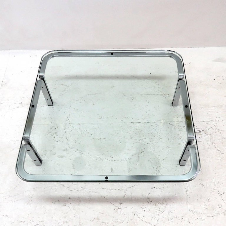 Brushed Horst Brüning Coffee Table for Kill International, 1960s For Sale