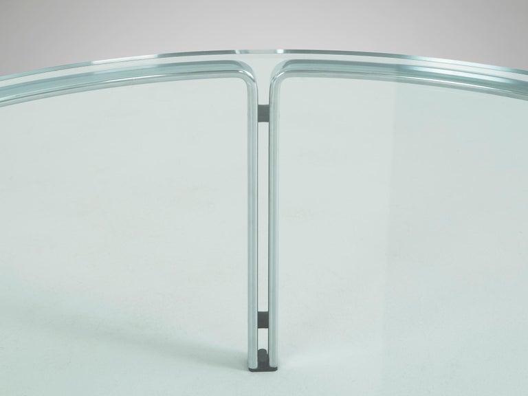 Mid-Century Modern Horst Brüning for Kill International Chrome and Glass Cocktail Table For Sale