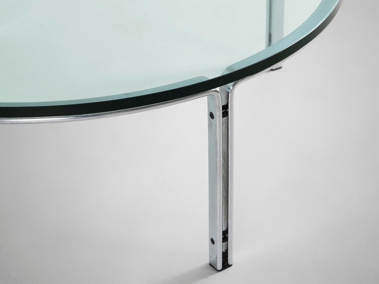 Horst Brüning for Kill International Chrome and Glass Cocktail Table In Good Condition For Sale In Waalwijk, NL