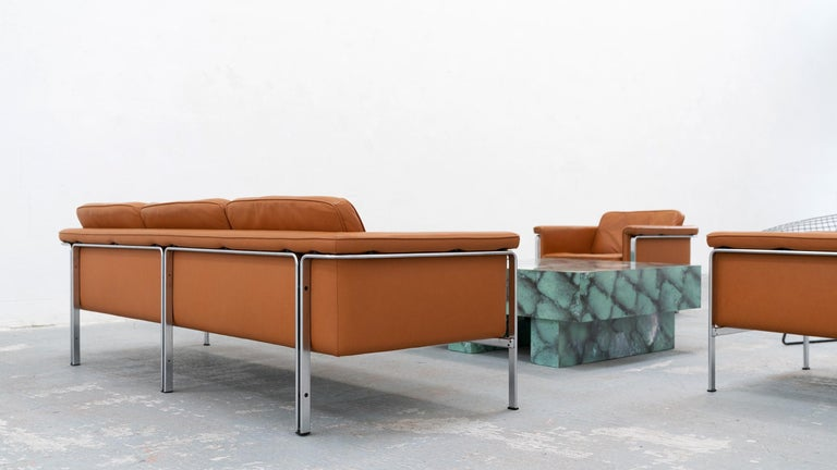 Horst Brüning, Lounge 3-Seat Sofa for Kill International, 1967 Germany Leather For Sale 5
