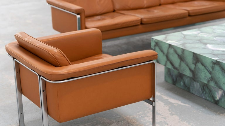 Horst Brüning, Lounge 3-Seat Sofa for Kill International, 1967 Germany Leather For Sale 9