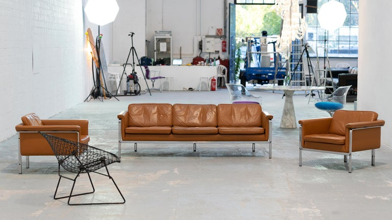 Horst Brüning, Lounge 3-Seat Sofa for Kill International, 1967 Germany Leather For Sale 11