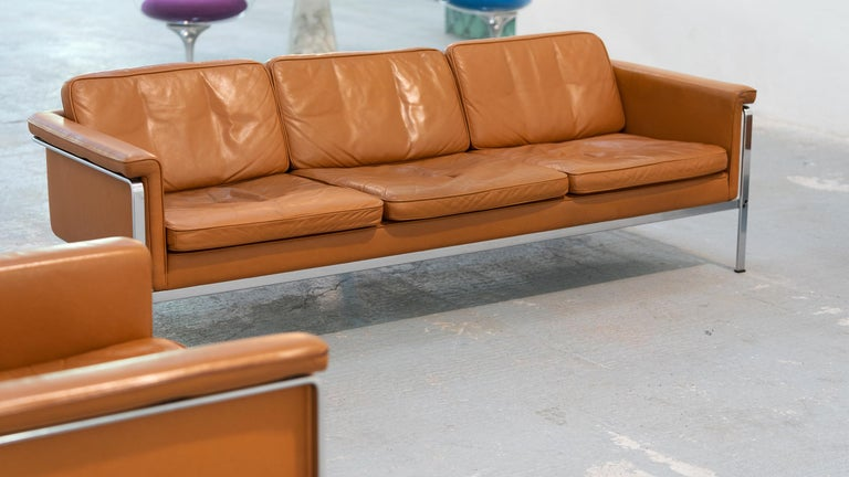 Horst Brüning, Lounge 3-Seat Sofa for Kill International, 1967 Germany Leather For Sale 12
