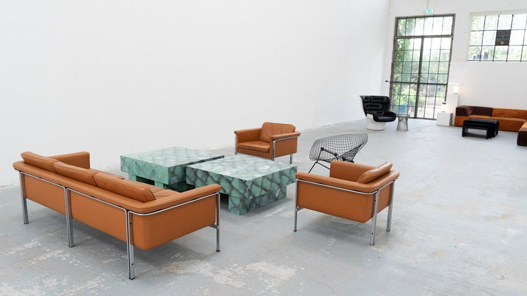 Mid-Century Modern Horst Brüning, Lounge 3-Seat Sofa for Kill International, 1967 Germany Leather For Sale