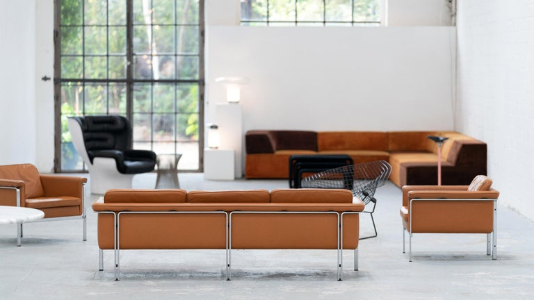 Mid-20th Century Horst Brüning, Lounge 3-Seat Sofa for Kill International, 1967 Germany Leather For Sale