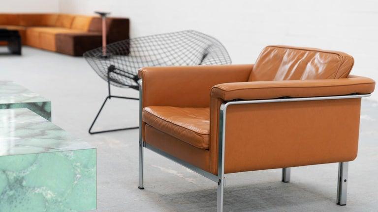 Horst Brüning, Lounge 3-Seat Sofa for Kill International, 1967 Germany Leather For Sale 2