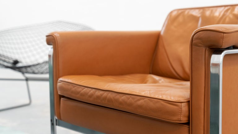 Horst Brüning, Lounge 3-Seat Sofa for Kill International, 1967 Germany Leather For Sale 3