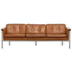 Horst Brüning, Lounge 3-Seat Sofa for Kill International, 1967 Germany Leather