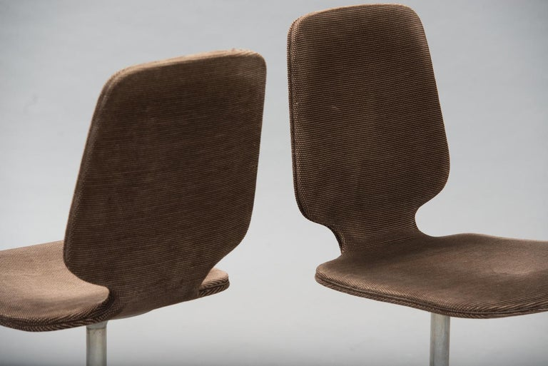 Polished Horst Brüning 'Sedia' Model Dining Chairs for COR For Sale