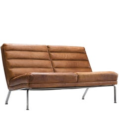 gerard van den berg set of two 39 ringo 39 sofa 39 s in brown leather for sale at 1stdibs. Black Bedroom Furniture Sets. Home Design Ideas