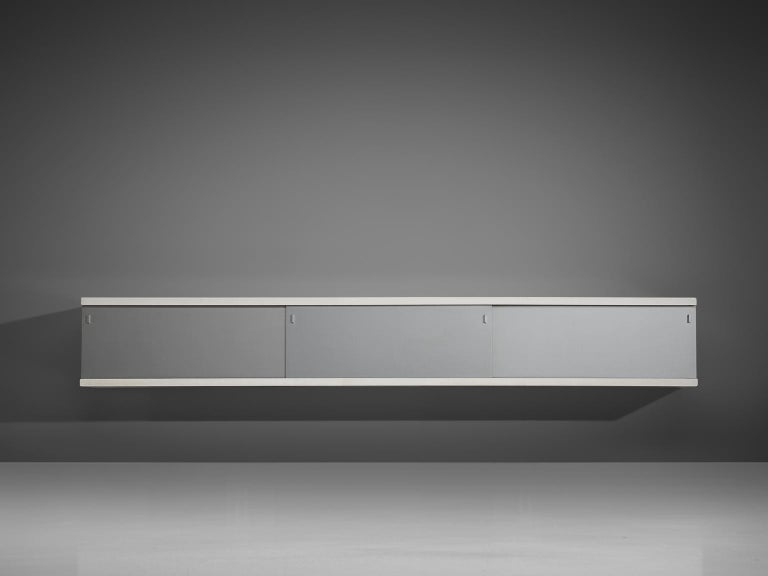 Mid-Century Modern Horst Brüning Wall-Mounted Credenza For Sale