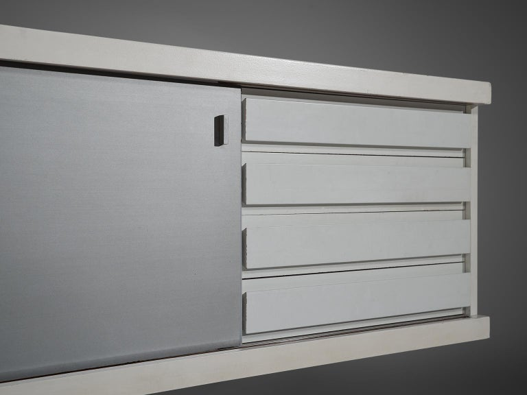 Aluminum Horst Brüning Wall-Mounted Credenza For Sale