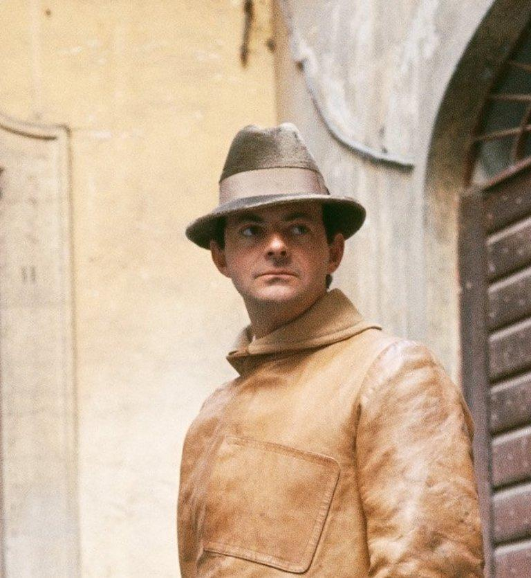 Cy Twombly in Rome 1966 - Untitled #1 Extra Small Archival Pigment Print - Beige Portrait Photograph by Horst P. Horst