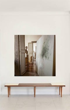 Cy Twombly in Rome - 1966, Untitled #13, Large Canvas  Print