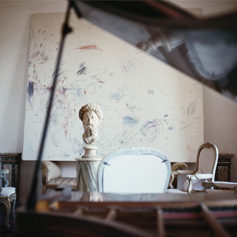 """Cy Twombly in Rome, 1966 - Untitled #14 by Horst P. Horst Archival Pigment Print     Image size: 15.7 in. H x 15.7 in. W Sheet size: 19.7 in. H x 19.7 in. W Edition of 10  All Prices are quoted as """"initial price"""".  Please note that prices and"""