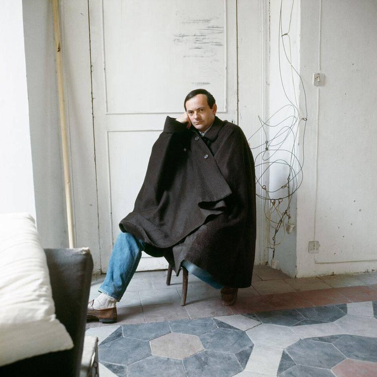 Horst P. Horst Portrait Photograph - Cy Twombly in Rome 1966 - Untitled #20, Medium Archival Pigment Print