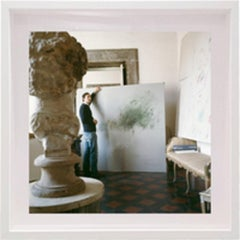 Cy Twombly in Rome 1966 - Untitled #24, Small Archival Pigment Print, Framed