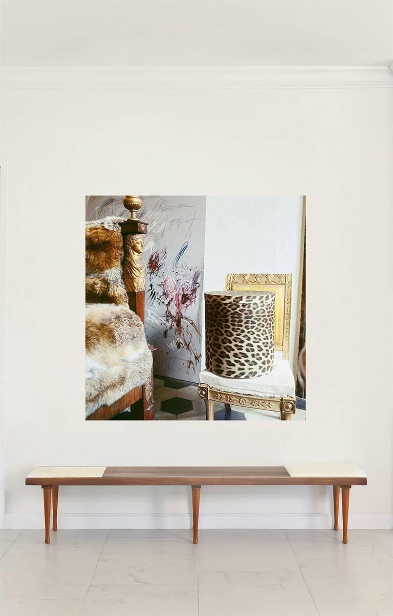 Cy Twombly in Rome - Untitled #26, Extra Large Archival Pigment Print - Photograph by Horst P. Horst