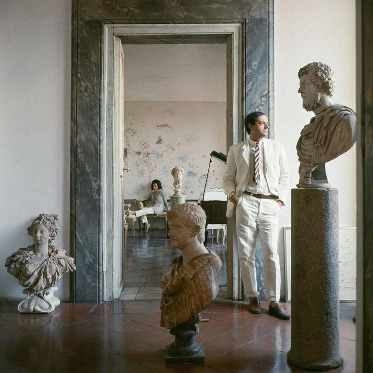 <i>Cy Twombly in Rome — Untitled #9</i>, by Horst P. Horst, 1966, offered by the Art Design Project