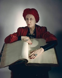 Edith Sitwell, 1948 Color Photograph