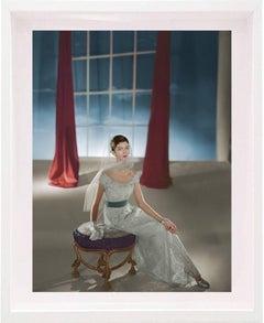 Fashion in Colour - Carmen Dell'Orefice, Dress by Hattie Carnegie, 1947, Framed