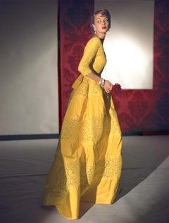 Fashion in Colour -Dress by Henri Bendel, Jewelry by Harry Winston, Medium Print