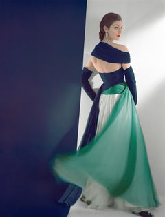 Fashion in Colour - Dress by Jean Desses, Color Photograph (Mounted & Framed)