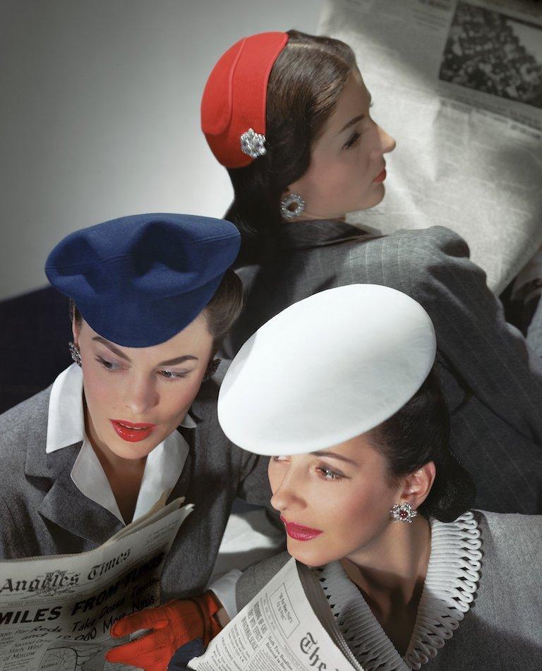 Hats by Best, Lord and Taylor and Mme Pauline, Gloves by Dawnelle, Medium Print - Modern Photograph by Horst P. Horst