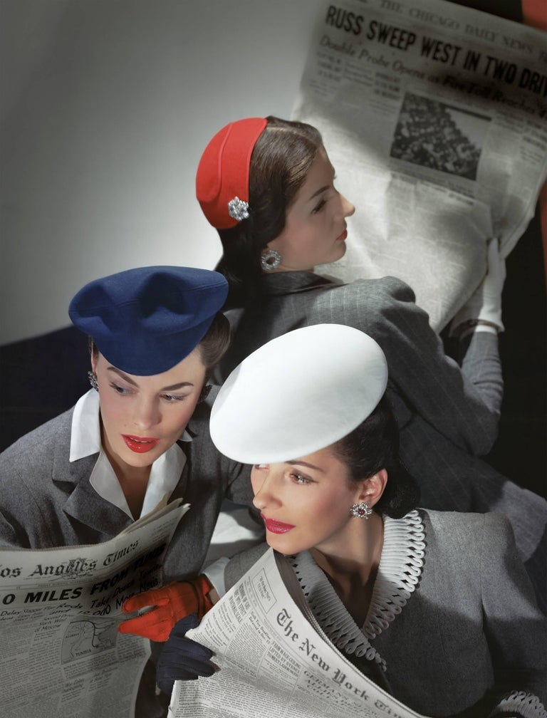 Horst P. Horst Portrait Photograph - Hats by Best, Lord and Taylor and Mme Pauline, Gloves by Dawnelle, Medium Print