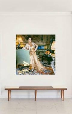 Marella Agnelli, Valentino Dress at Villar Perosa, Extra Large Color Photograph
