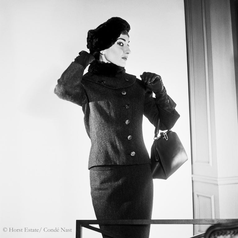 Maria Callas, 1952, 9 archival pigment prints matted in embossed a portfolio box - Photograph by Horst P. Horst