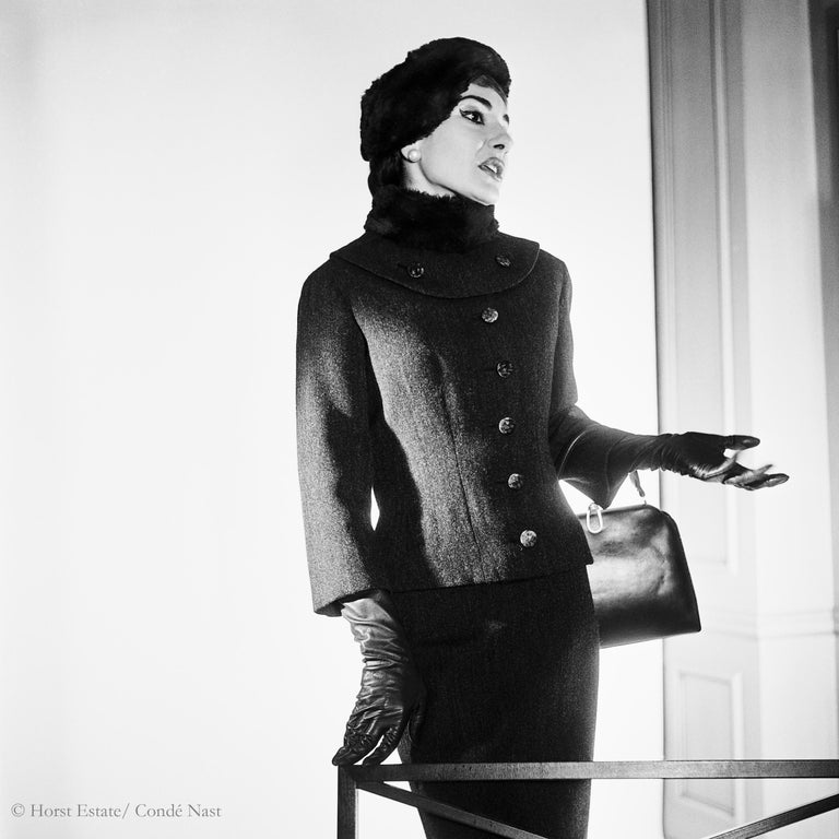 Maria Callas, 1952, 9 archival pigment prints matted in embossed a portfolio box - Contemporary Photograph by Horst P. Horst