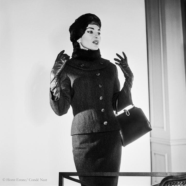 Portfolio Maria Callas, 1952 by Horst P. Horst 9 archival pigment prints matted in an embossed box 15.7
