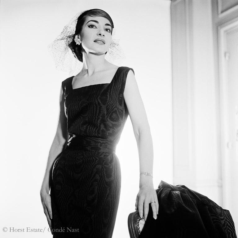 Maria Callas, 1952, 9 archival pigment prints matted in embossed a portfolio box For Sale 1