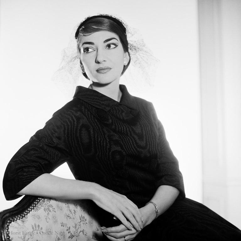 Maria Callas, 1952, 9 archival pigment prints matted in embossed a portfolio box For Sale 2