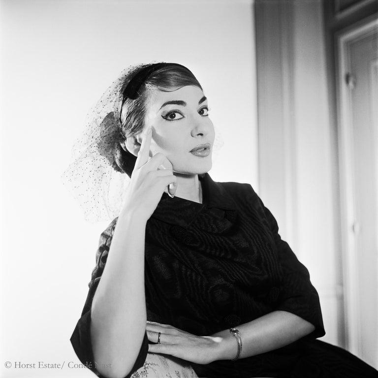Maria Callas, 1952, 9 archival pigment prints matted in embossed a portfolio box For Sale 3