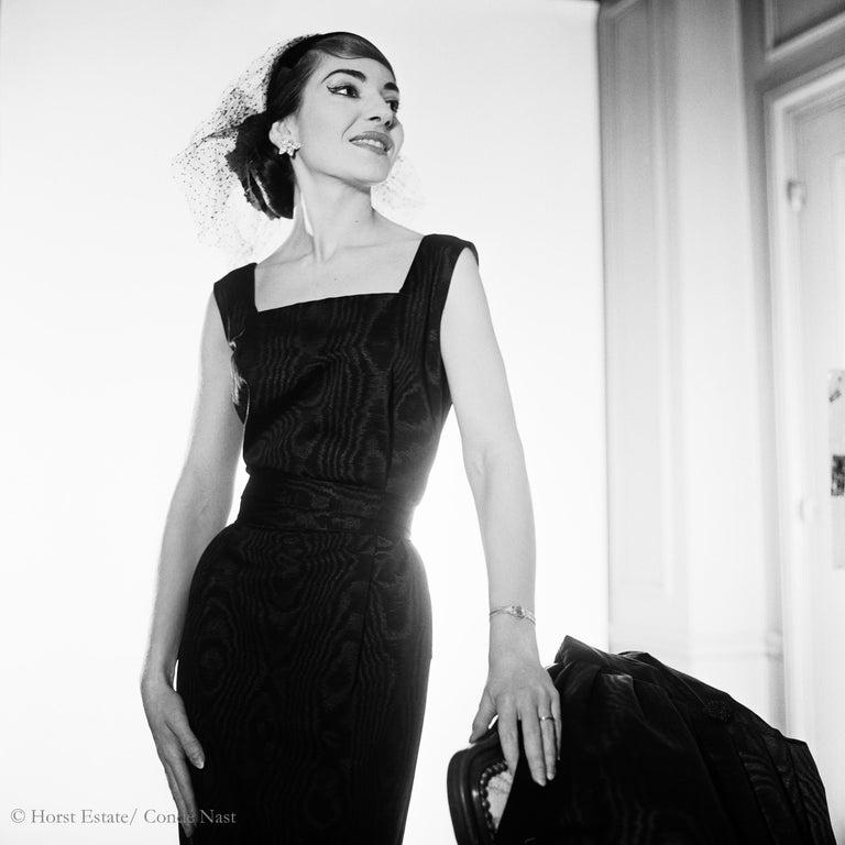 Maria Callas, 1952, 9 archival pigment prints matted in embossed a portfolio box For Sale 4