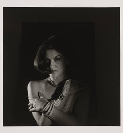Portarit of Paloma Picasso. Photography in black and white, 1981