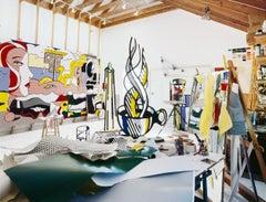 Roy Lichtenstein, New York, 1977, (Lichtenstein Studio, Southampton)
