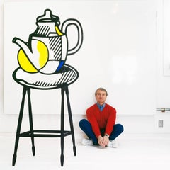 Roy Lichtenstein, New York, 1977 Color Photograph