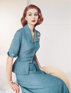 Fashion in Colour - Suit by Brigance for Frank Gallant, 1951, Color Photograph