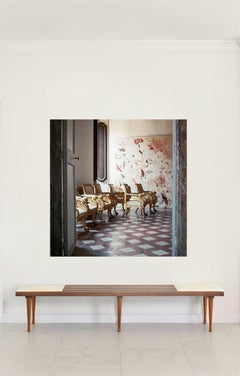 Cy Twombly in Rome - Untitled #19, Large Mounted on Aluminum